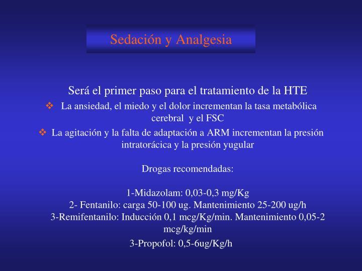 Sedación y Analgesia