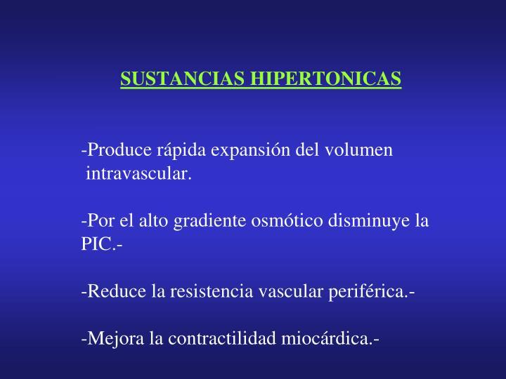 SUSTANCIAS HIPERTONICAS