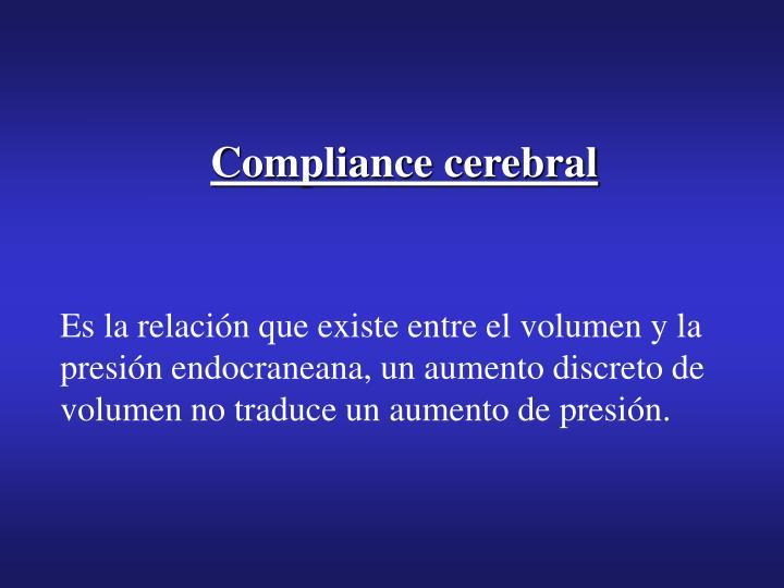 Compliance cerebral