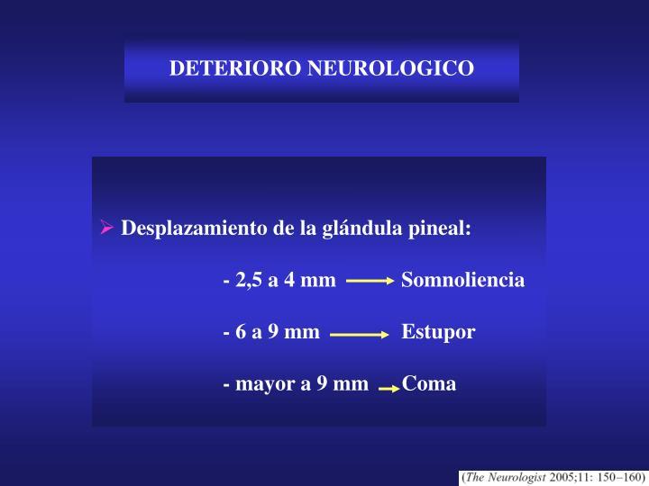 DETERIORO NEUROLOGICO