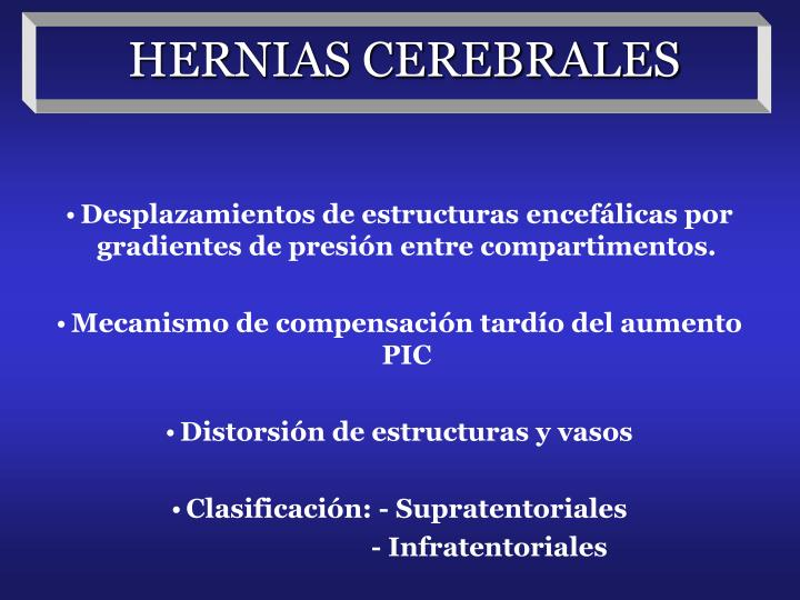 HERNIAS CEREBRALES