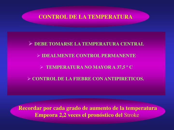 CONTROL DE LA TEMPERATURA