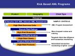 risk based aml programs
