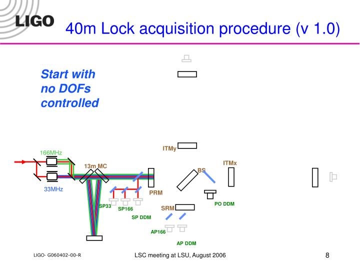 40m Lock acquisition procedure (v 1.0)