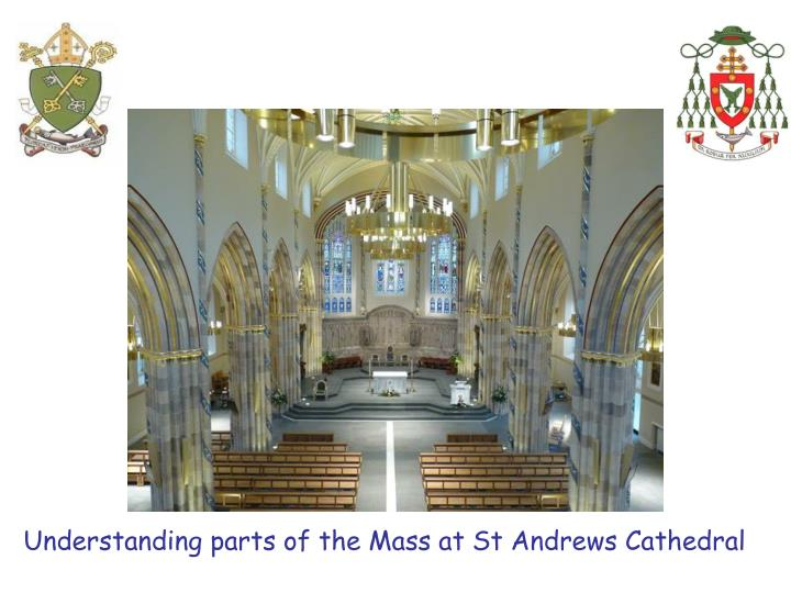 Understanding parts of the Mass at St Andrews Cathedral