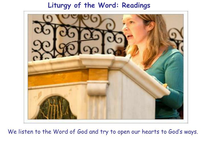 Liturgy of the Word: Readings