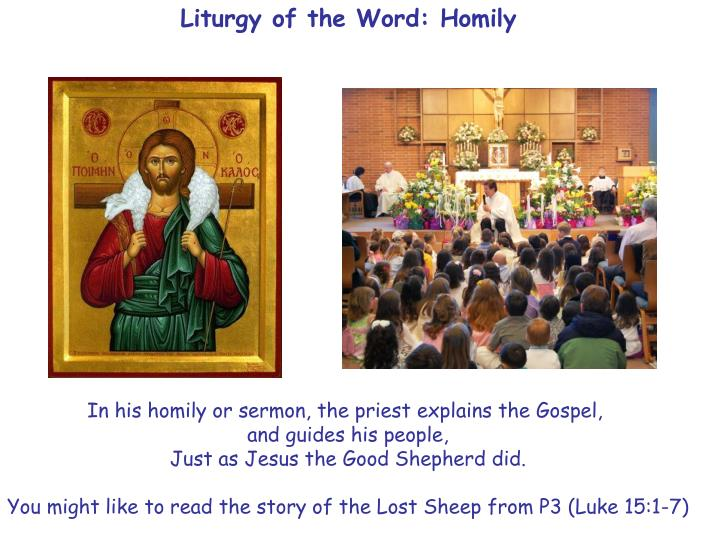 Liturgy of the Word: Homily