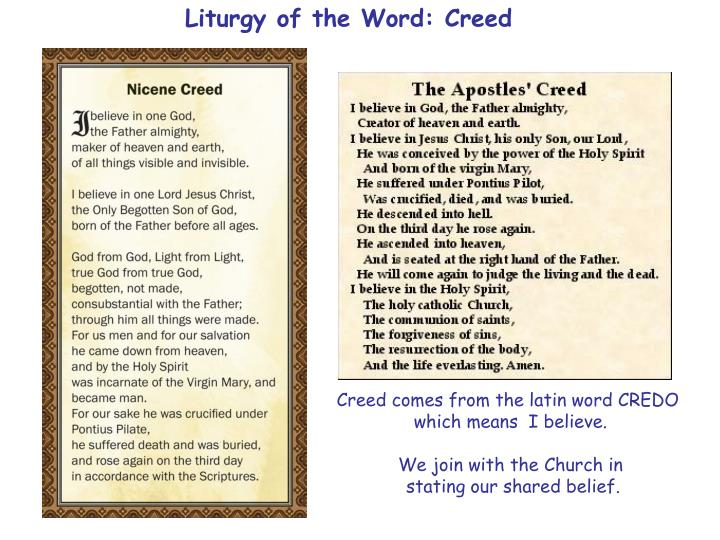 Liturgy of the Word: Creed