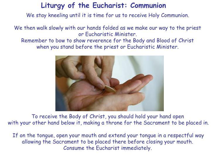 Liturgy of the Eucharist: Communion