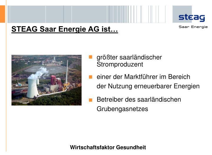 STEAG Saar Energie AG ist…