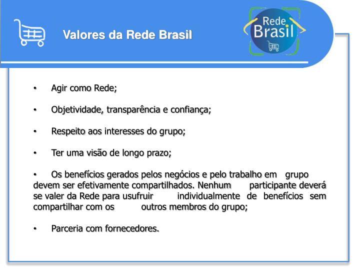 Valores da Rede Brasil