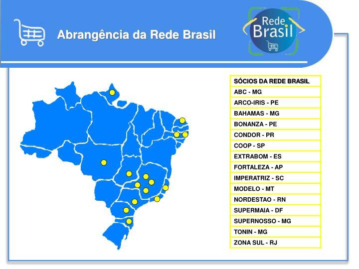 Abrangência da Rede Brasil