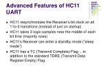 advanced features of hc11 uart