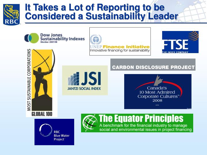 It Takes a Lot of Reporting to be Considered a Sustainability Leader