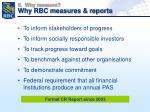 why measure why rbc measures reports