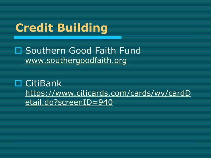 Credit Building