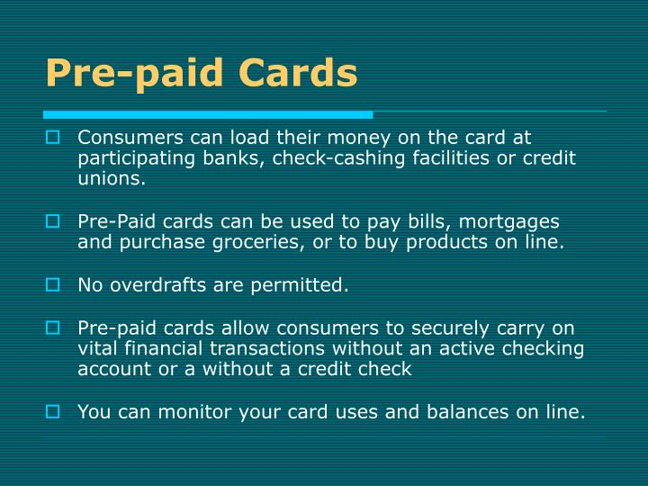 Pre-paid Cards