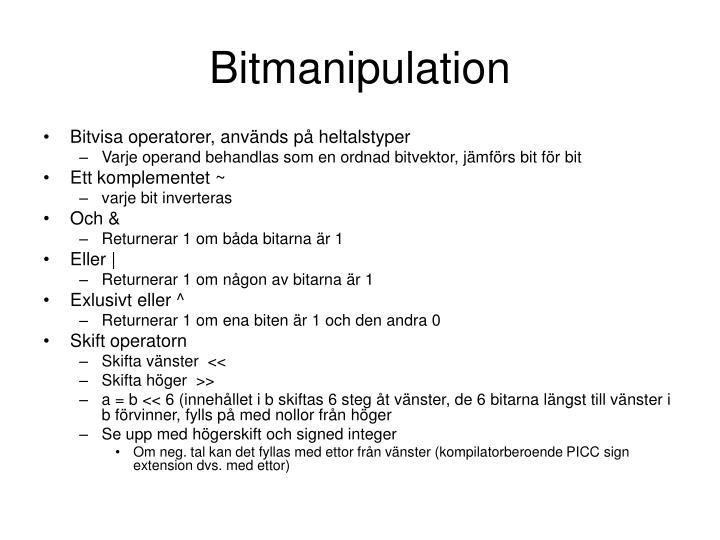 Bitmanipulation