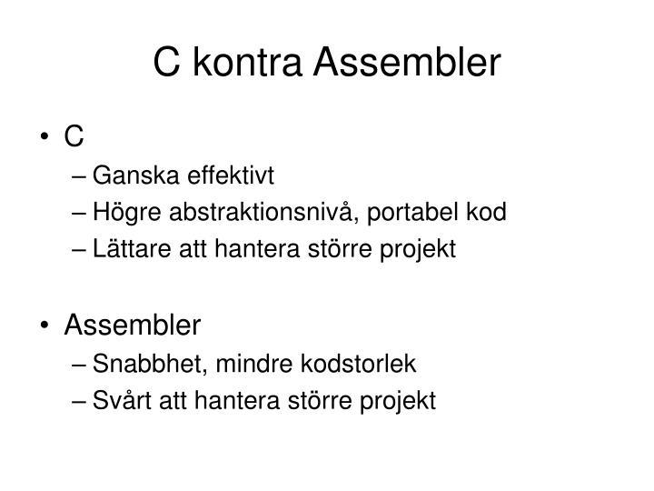 C kontra Assembler