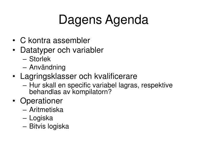 Dagens Agenda