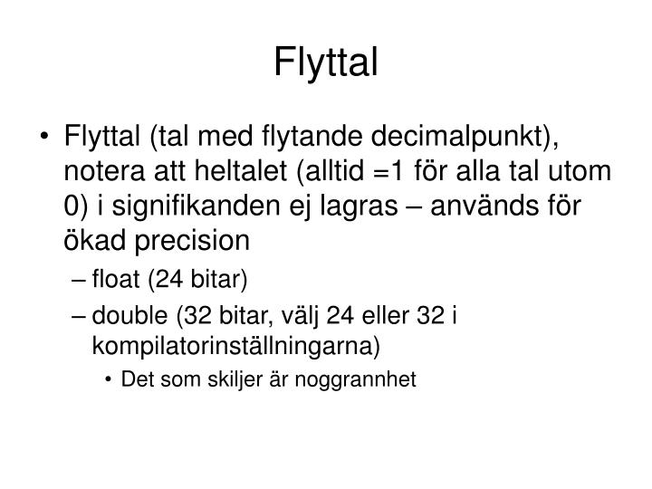 Flyttal