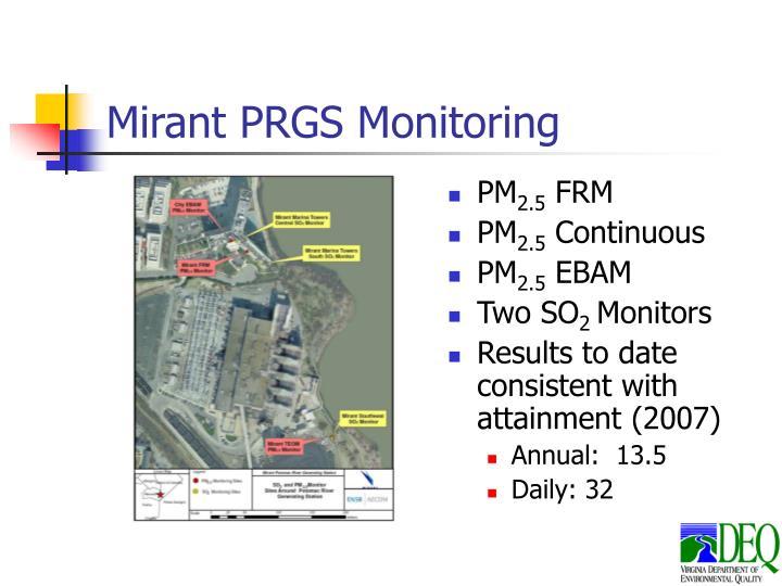 Mirant PRGS Monitoring