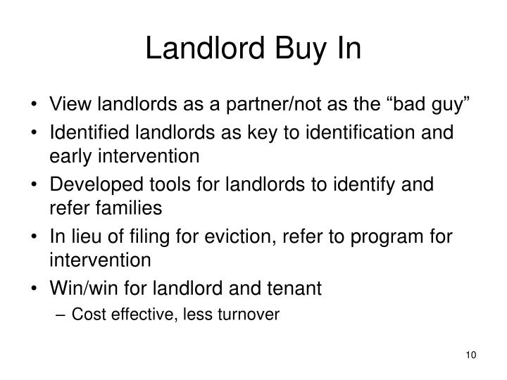Landlord Buy In