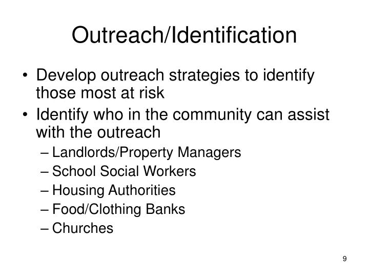 Outreach/Identification