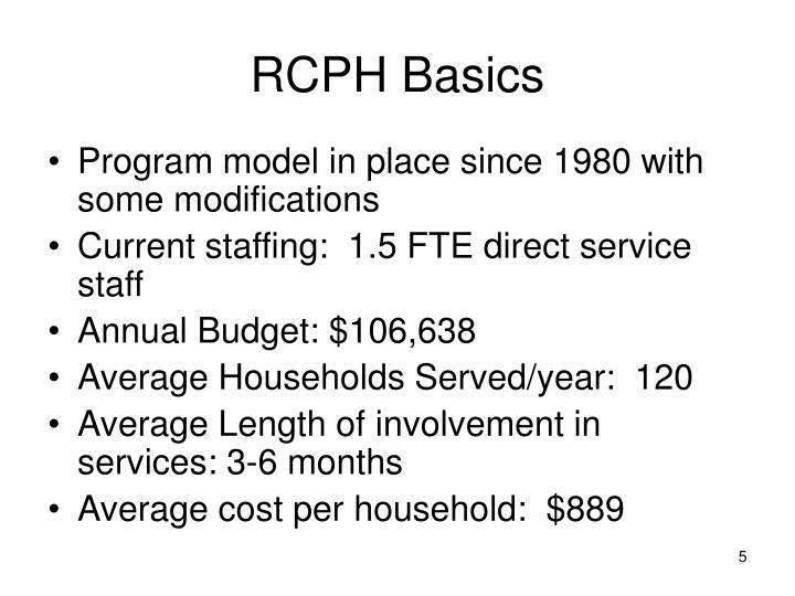 RCPH Basics