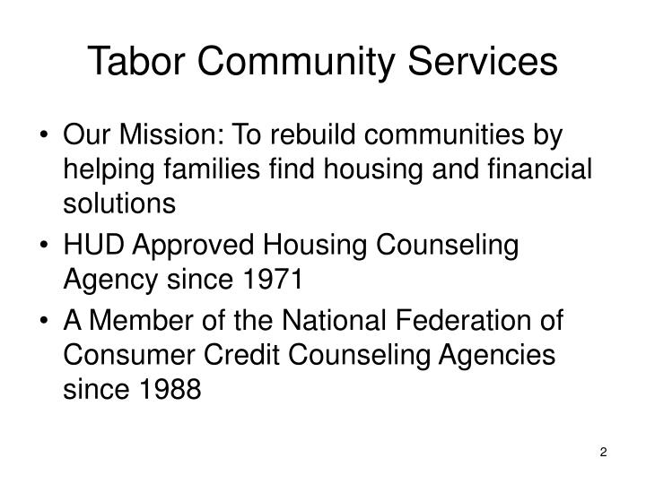 Tabor Community Services