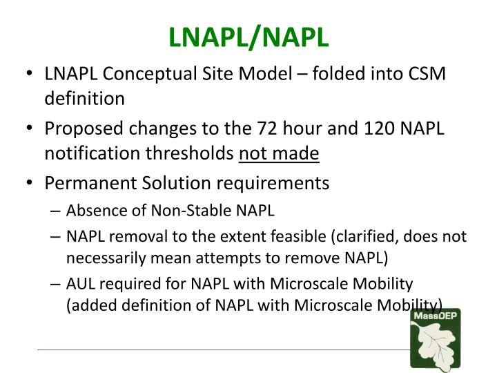 LNAPL/NAPL
