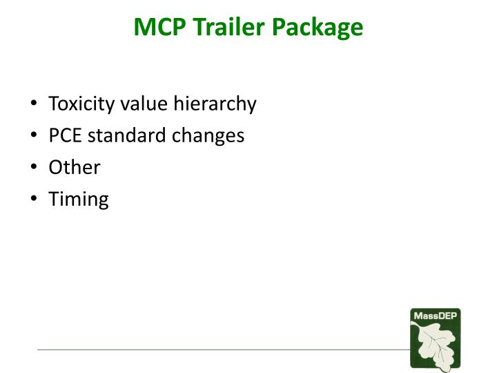 MCP Trailer Package