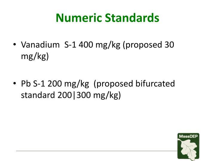 Numeric Standards