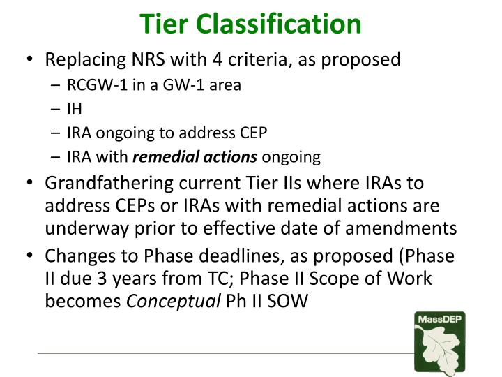 Tier Classification