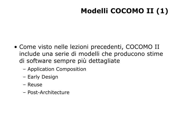 Modelli COCOMO II (1)