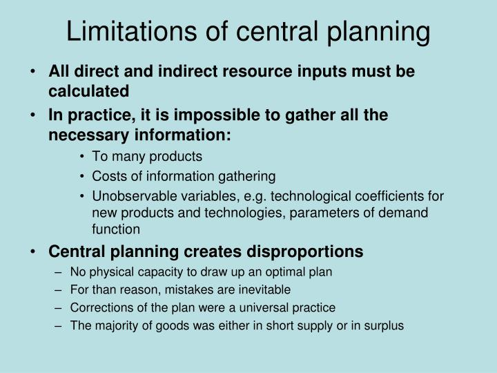 Limitations of central planning