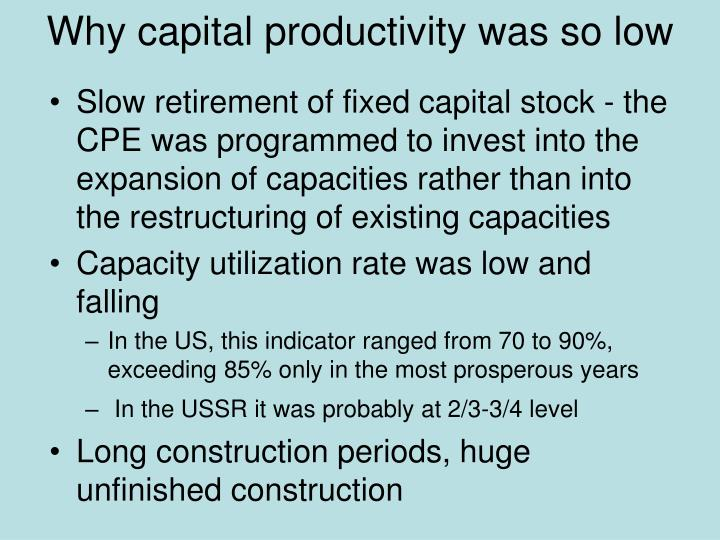 Why capital productivity was so low