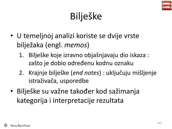 Bilješke