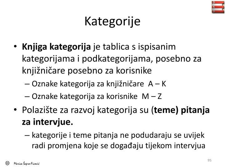 Kategorije