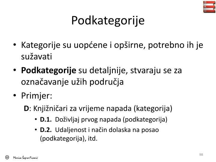 Podkategorije