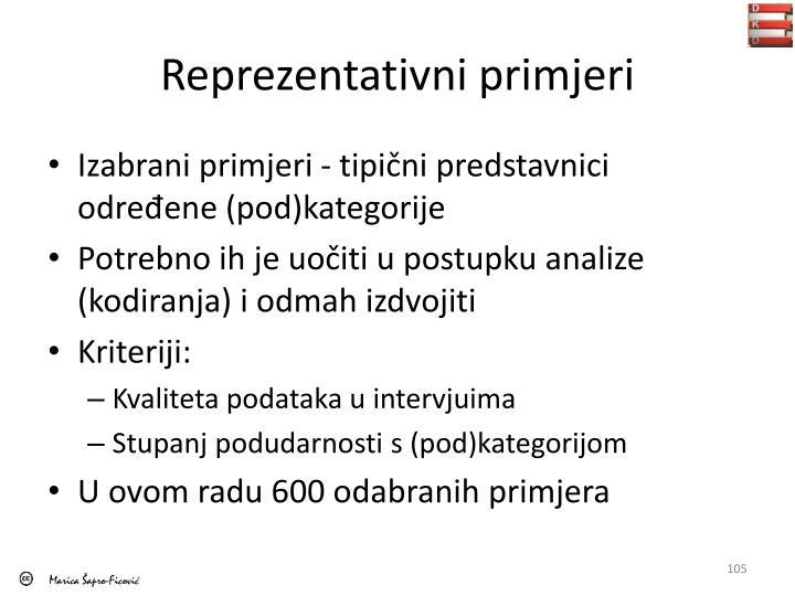 Reprezentativni primjeri