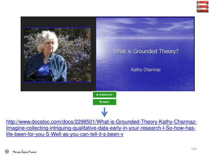 http://www.docstoc.com/docs/2298501/What-is-Grounded-Theory-Kathy-Charmaz-Imagine-collecting-intriguing-qualitative-data-early-in-your-research-I-So-how-has-life-been-for-you-S-Well-as-you-can-tell-it-s-been-v