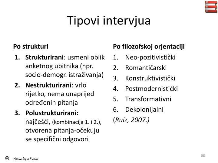 Tipovi intervjua