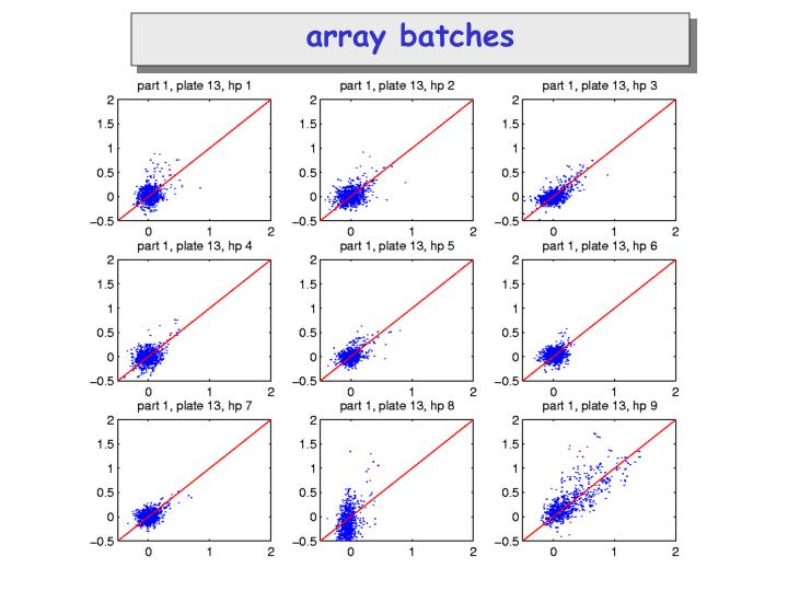 array batches