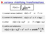variance stabilizing transformations2