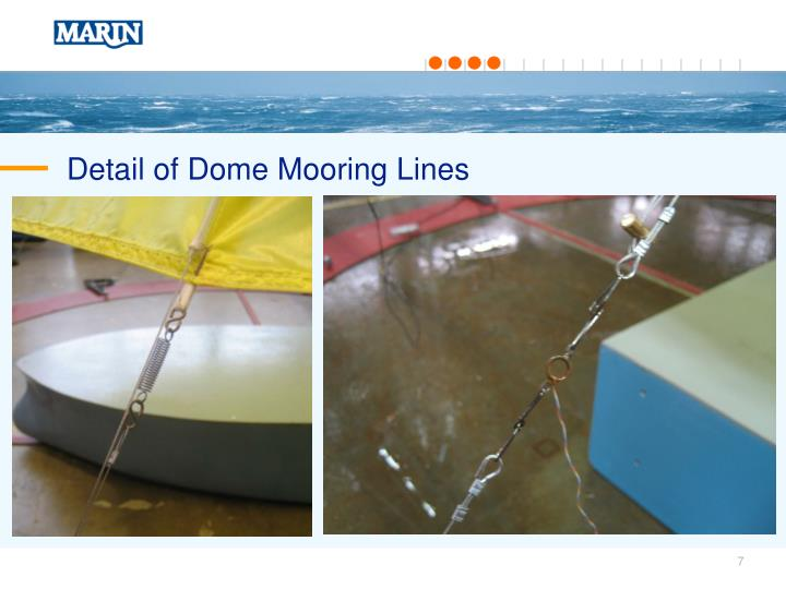 Detail of Dome Mooring Lines
