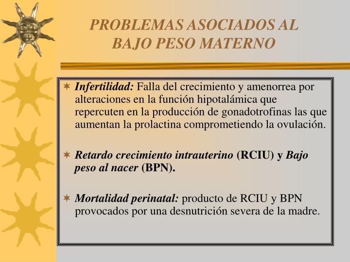 PROBLEMAS ASOCIADOS AL