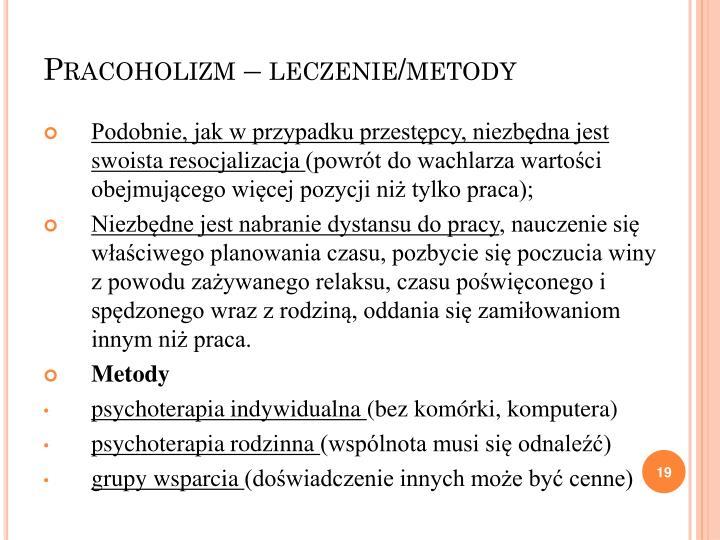 Pracoholizm – leczenie/metody
