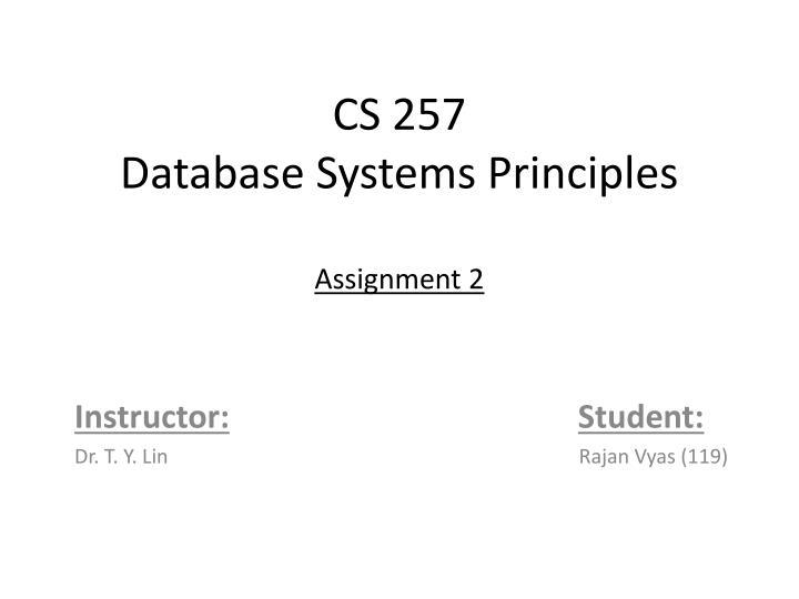 CS 257