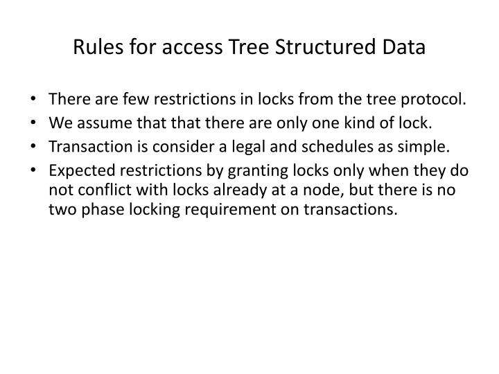 Rules for access Tree Structured Data
